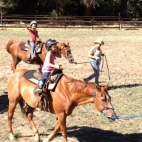 R-Ranch offers horse-back riding for all levels of riders. Little ones can learn the basics in the arena, or take the family on a trail ride
